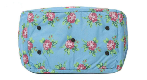 کیف خرید آبی گلدار باریکو