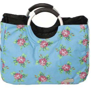 کیف خرید ابی گلدار