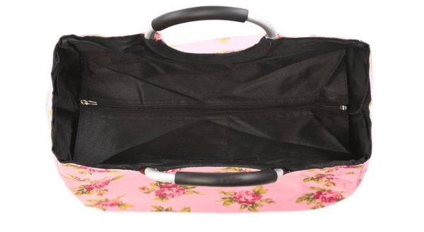 کیف خرید صورتی گل رز باریکو