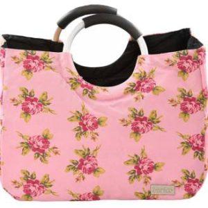 کیف خرید صورتی گل رز