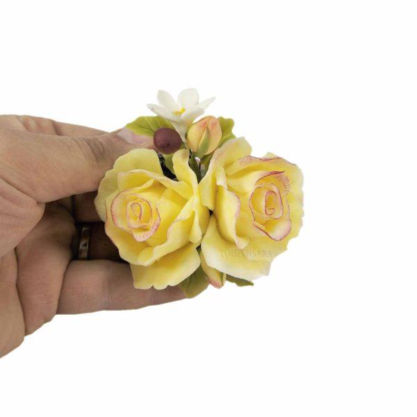 گل و تنه درخت خمیری