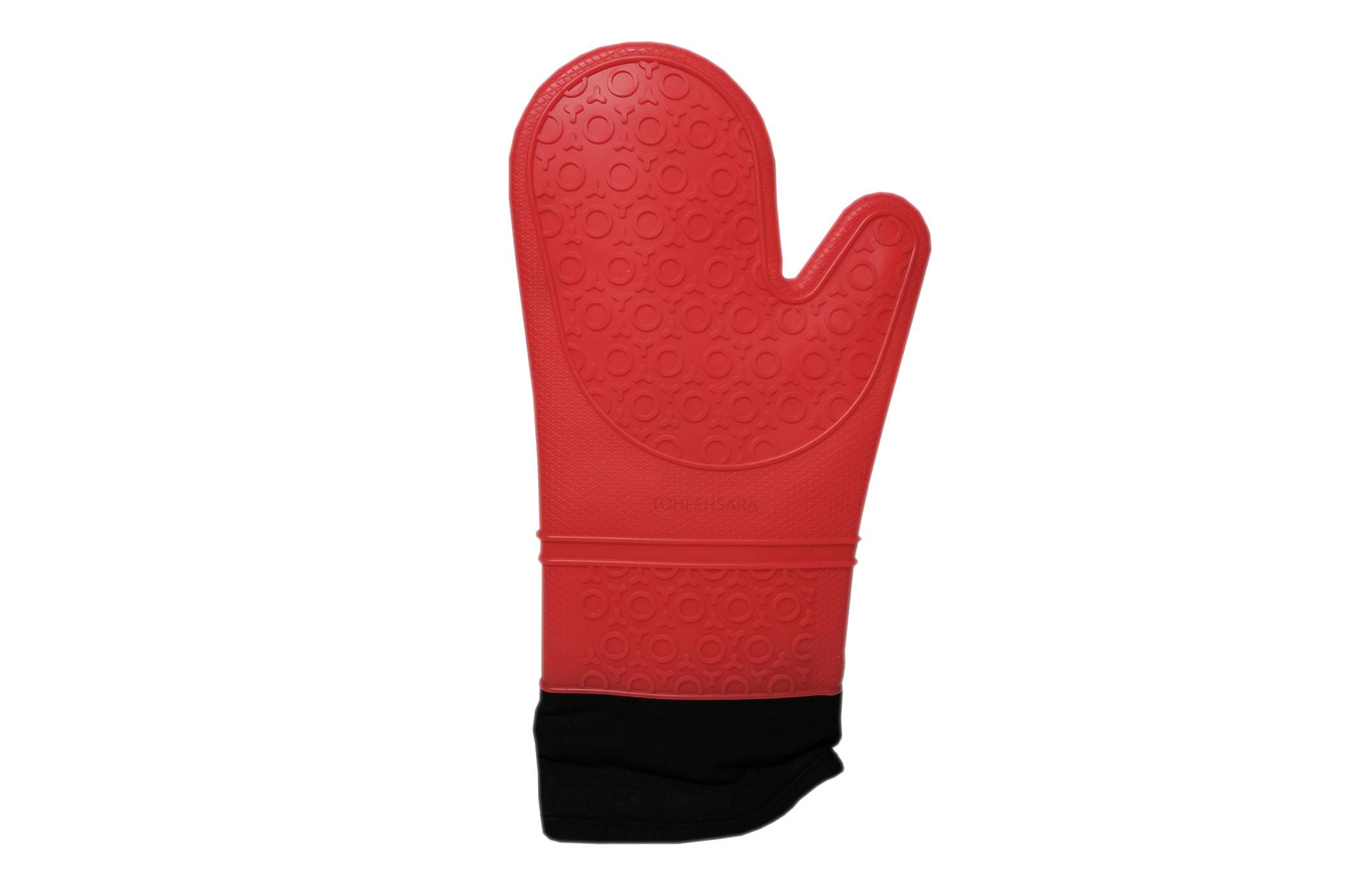 دستکش فر سیلیکون رنگی ساق بلند