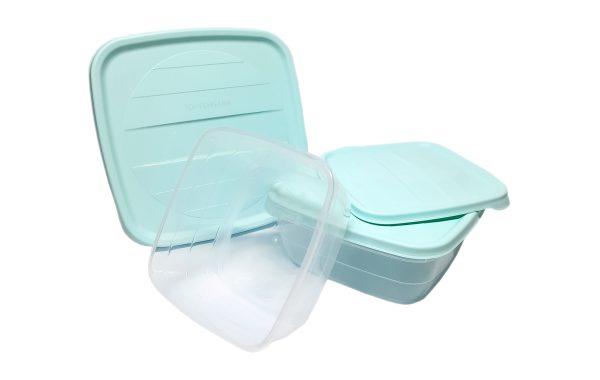ظروف نگهدارنده مربع 3 تایی هوبی لایف 1036